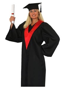 Package : 1 Graduation Hat, 1 Graduation Gown and 1 Student Tie